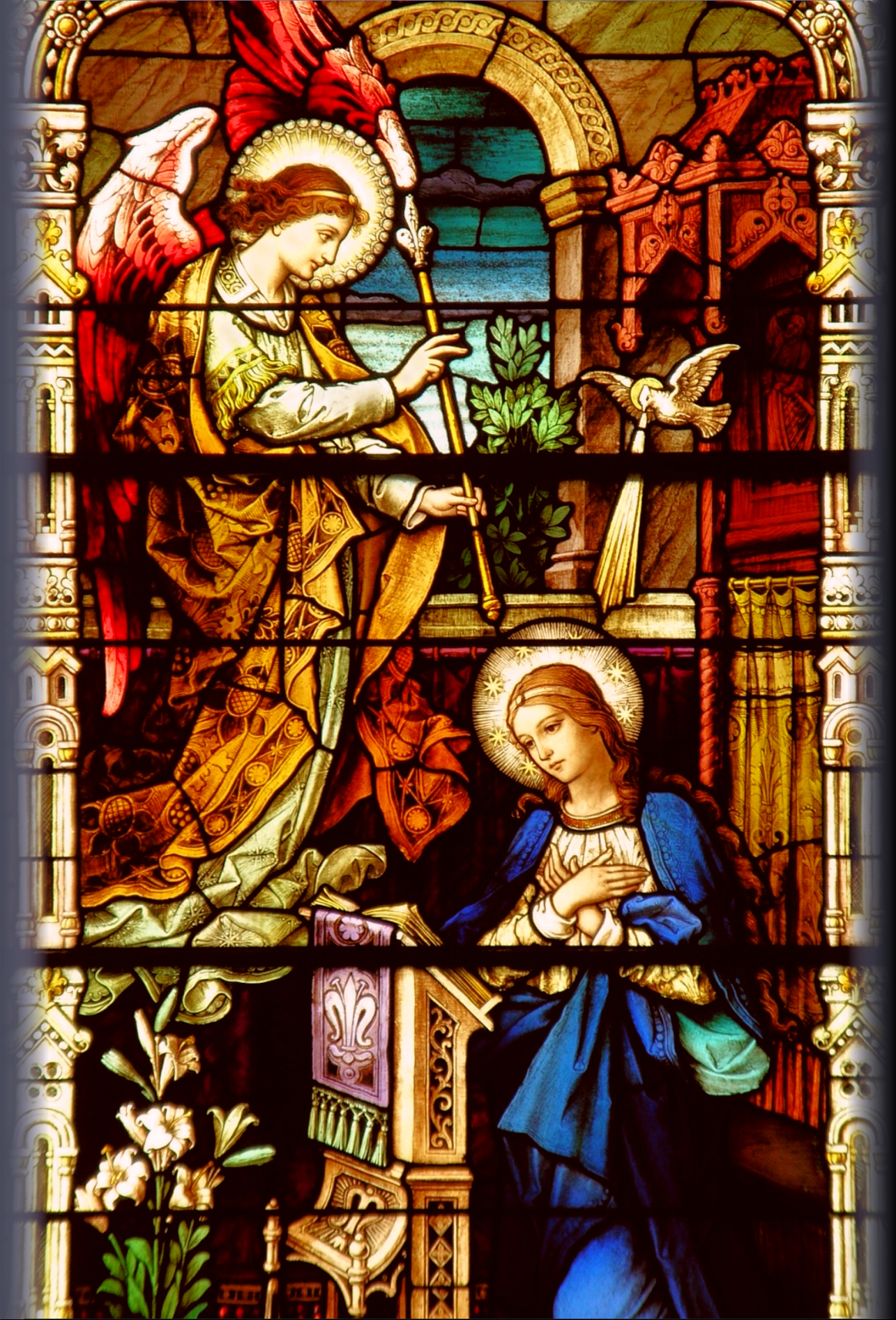 the gallery for gt advent stained glass