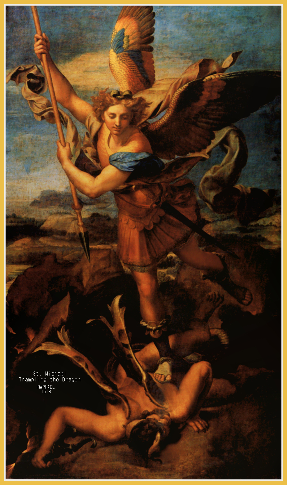 ST. MICHAEL TRAMPLING THE DRAGON