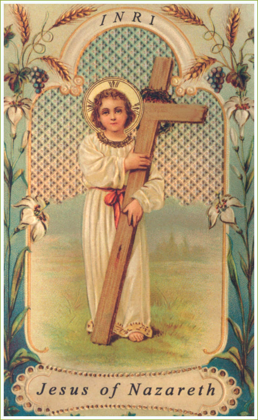 Traditional Holy Card  C2 B7 With The Cross 1