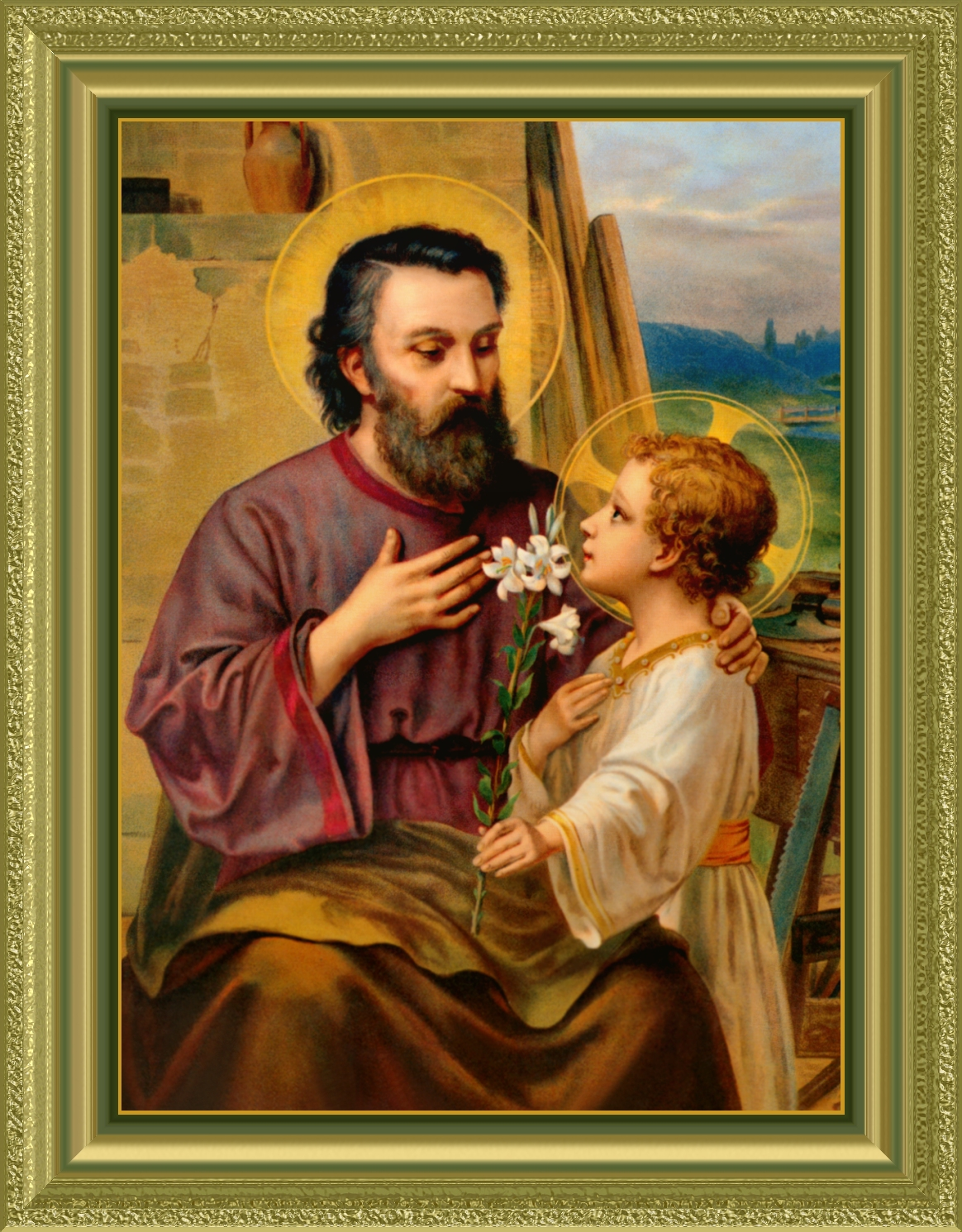 ST. JOSEPH IN ORNATE FRAME