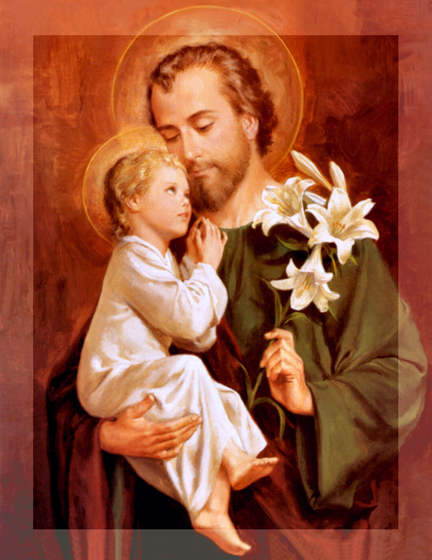 SAINT JOSEPH WITH FADE BORDER