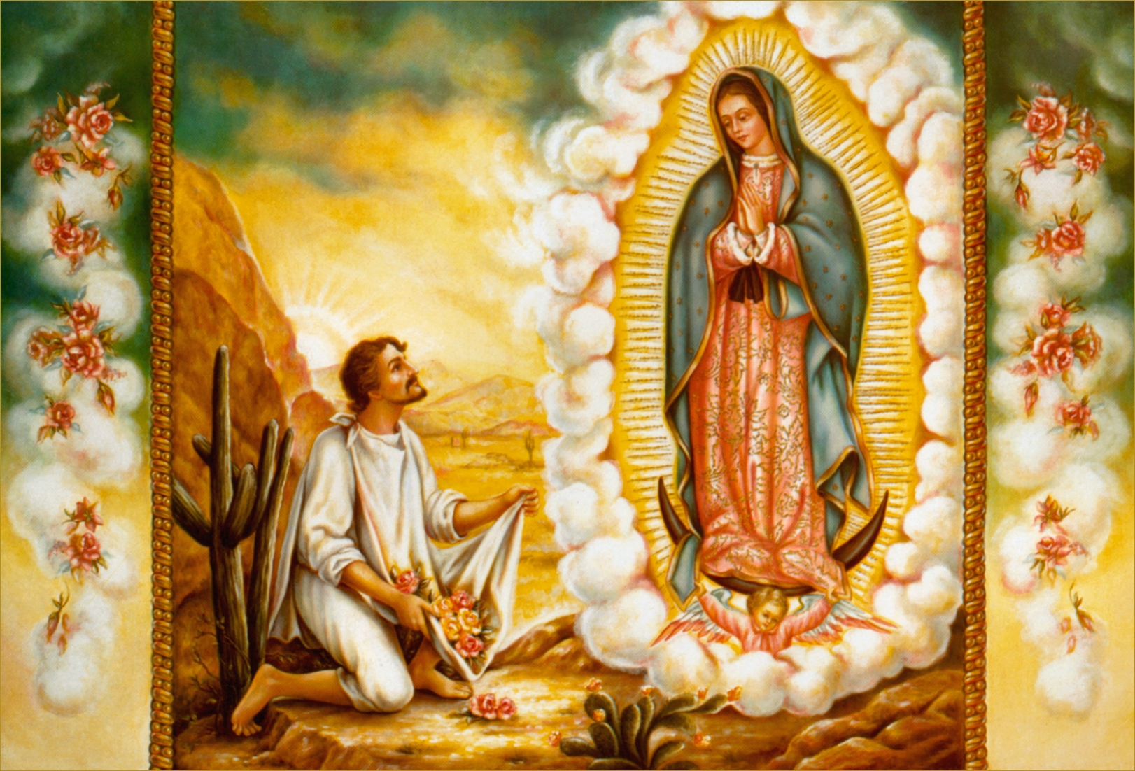 juan diego and the virgin mary Saint juan diego and virgin of guadalupe coloring pages  virgin mary miraculous blessed kids crafts mother mary  catholic preschool coloring page.