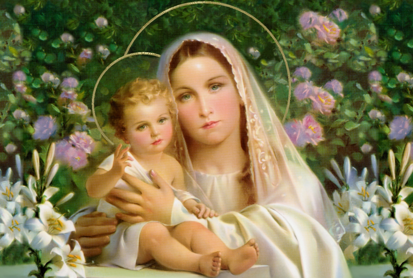 Blessed Mother Mary And Jesus A LITTLE BOOK O...