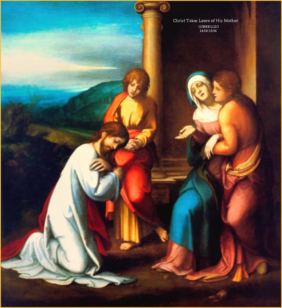 JESUS TOMA DE PERMISO DE SU MADRE