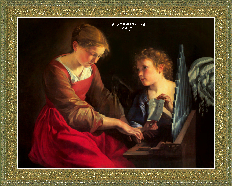 St. cecilia and her angel: carlo saraceni