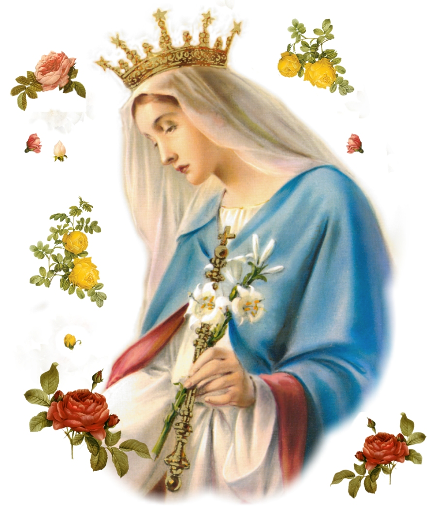 Blessed Virgin Mary with a Crown