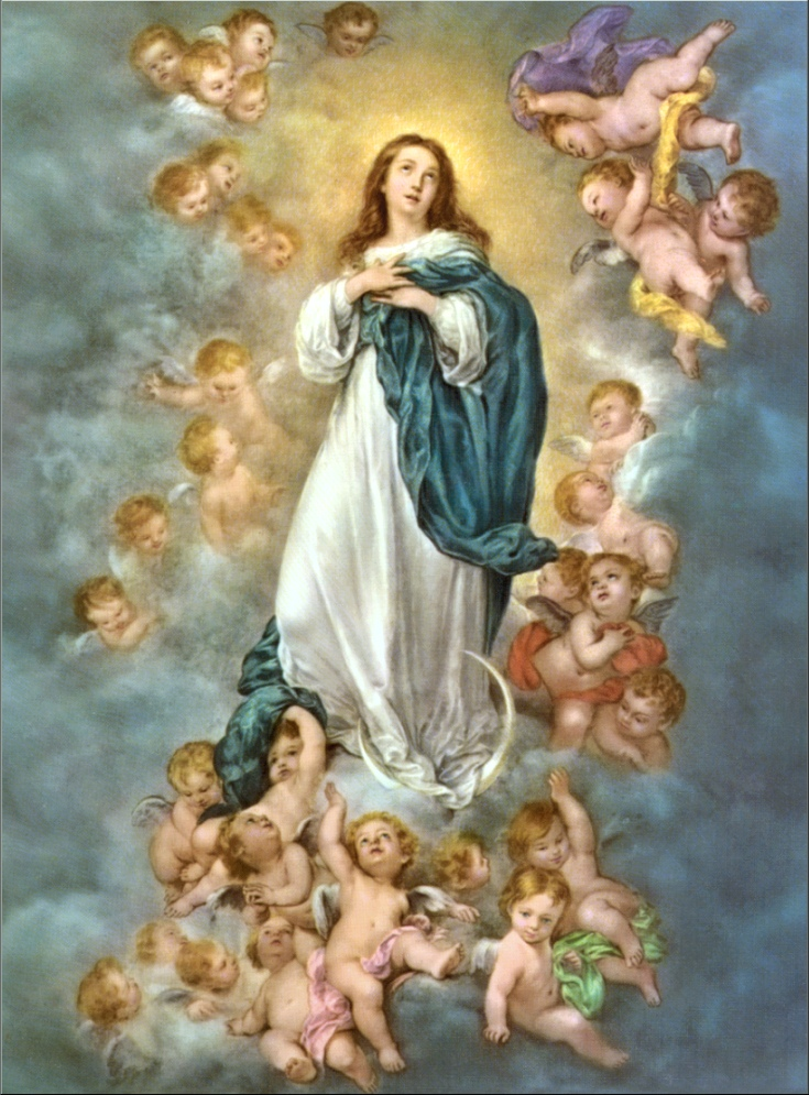 Reproduction of murillo's immaculate conception