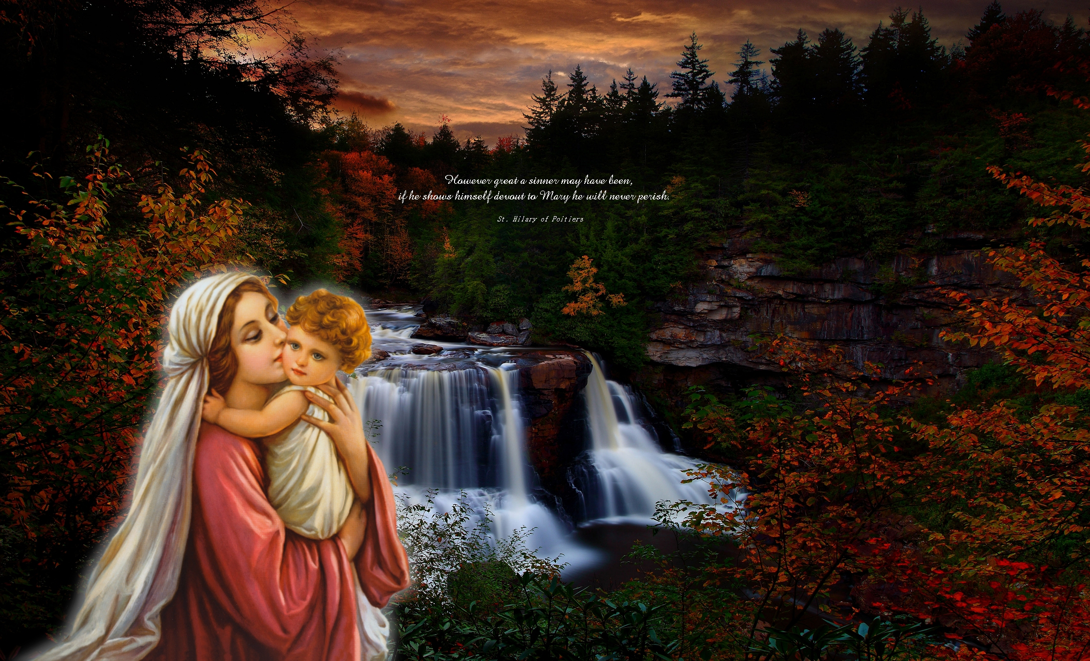 Vierge Virgin And Child Scenic Wallpapers