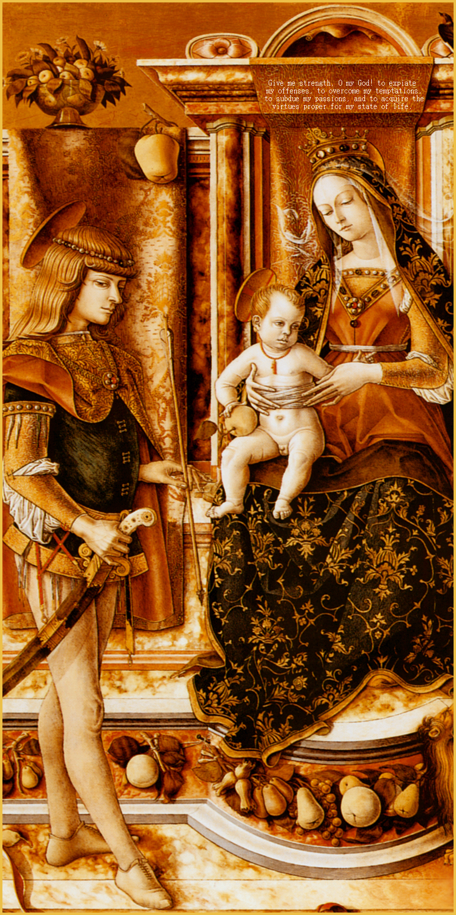 MADONNA AND CHILD WITH ST. MICHAEL